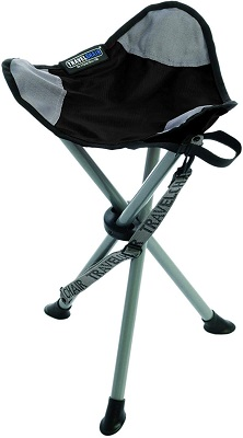 6. TravelChair Slacker Chair, Super Compact, Folding Tripod Camping Stool