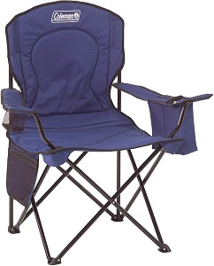 3. Coleman Portable Camping Quad Chair with 4-Can Cooler