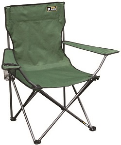 8. Quik Chair Portable Folding Chair with Arm Rest Cup Holder and Carrying and Storage Bag