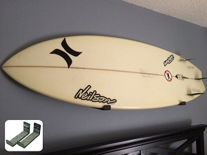 10. StoreYourBoard Naked Surf, The Original Minimalist Surfboard Wall Rack