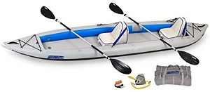 1. Sea Eagle 465 FastTrack Inflatable Kayak Deluxe 2 Person