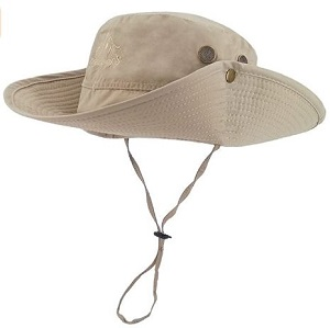 7. LETHMIK Outdoor Waterproof Boonie Hat Wide Brim Breathable Hunting Fishing Safari Sun Hat
