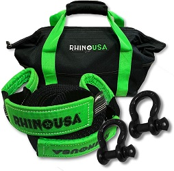 9. Rhino USA Combo D Ring Shackles & 20' Tow Strap