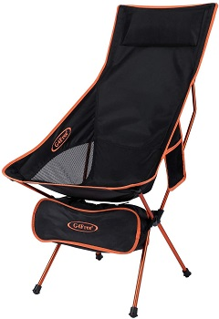 4. G4Free Upgraded Lightweight Portable Camping Chair Outdoor Folding Backpacking High Back Camp Lounge Chairs