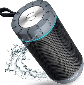 10. COMISO Waterproof Bluetooth Speakers Outdoor Wireless Portable Speaker