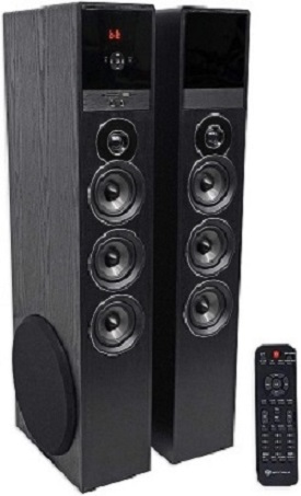 3. Rockville TM150B Black Home Theater System Tower Speakers
