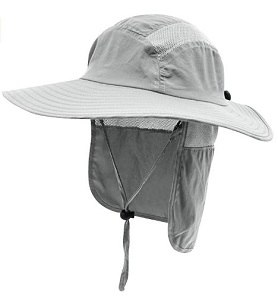 2. Home Prefer Men's UPF 50+ Sun Protection Cap Wide Brim Fishing Hat