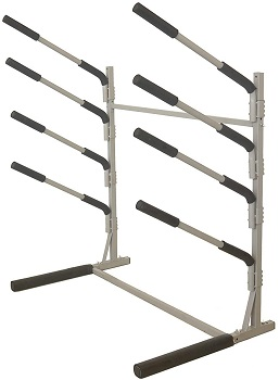 3. Spare hand Freestanding Rack Storage for 4 SUPs or Surfboards,