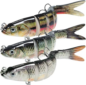 4. TRUSCEND Fishing Lures for Bass Trout 4.7~7