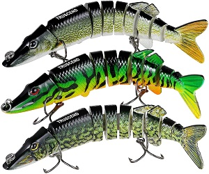 2. TRUSCEND Fishing Lures for Bass Trout 4.7~7