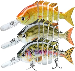 3. TRUSCEND Fishing Lures for Bass Trout 2~4