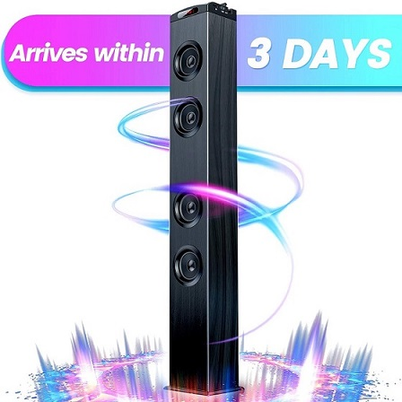 4. VENLOIC Bluetooth Tower Speakers with Bass