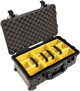 3. Pelican 1510 Case With Padded Dividers (Black)