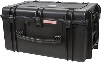 2. Monoprice Weatherproof / Shockproof Hard Case with Wheels
