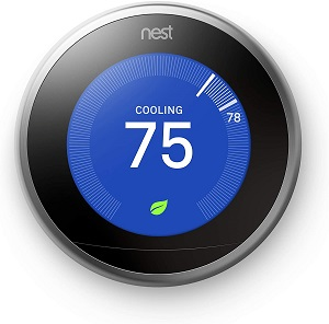 7. Google, T3007ES, Nest Learning Thermostat, Smart Thermostat