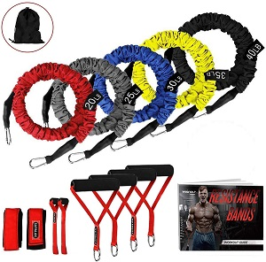 8. Resistance Bands, 15 Pieces Exercise Elastic Bands Set
