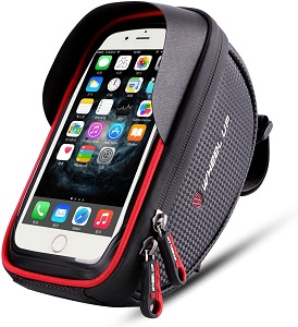 10. Wallfire Bike Phone Mount Bag, Bicycle Frame Bike Handlebar Bags