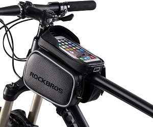 2. ROCKBROS Bike Bag Waterproof Top Tube Phone Bag