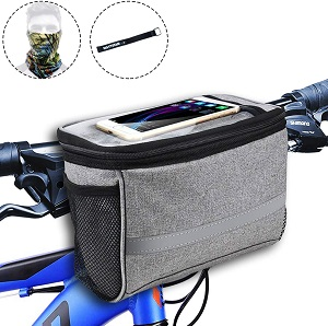 4. MATTISAM Bike Handlebar Bag, Bike Basket with | Mesh Pocket