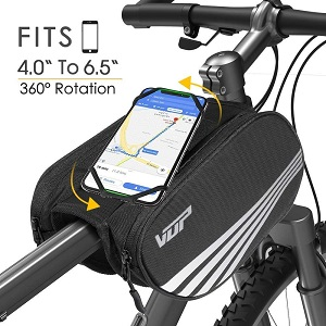 6. VUP Bike Front Frame Bag, Universal Bicycle Motorcycle Handlebar Bag
