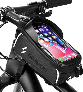 3. Bike Phone Front Frame Bag - Waterproof Bicycle Top Tube