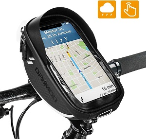 8. Bike Bicycle Phone Mount Bags - Waterproof Front Frame Top Tube Handlebar Bags