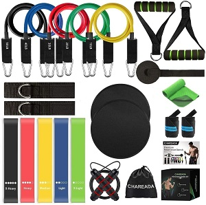 6. CHAREADA 23 Pack Resistance Bands Set Workout Bands