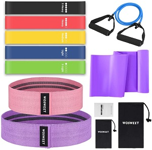 10. Wosweet Exercise Resistance Bands Set, 11 Pack Workout Bands Set