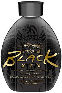3. Ed Hardy BLACK XXX Instant Dark Color Tanning Lotion