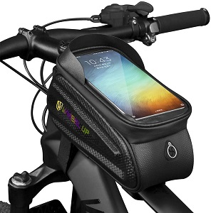5. WATERFLY Bike Frame Bag Waterproof Bike Front Tube Handlebar Bag
