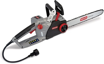 10. Oregon CS1500 18 in. 15 Amp Self-Sharpening Corded Electric Chainsaw