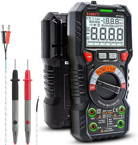 4. KAIWEETS Digital Multimeter TRMS 6000 Counts Ohmmeter Auto-Ranging