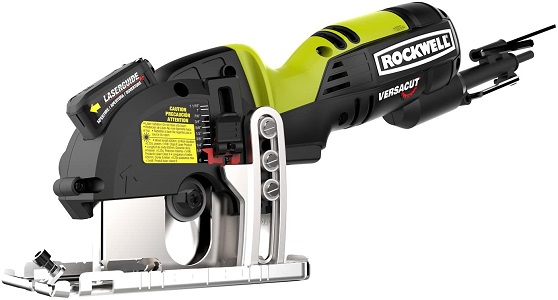 2. Rockwell rk3440k versacut 4.0 amp ultra-compact circular saw with laser guide