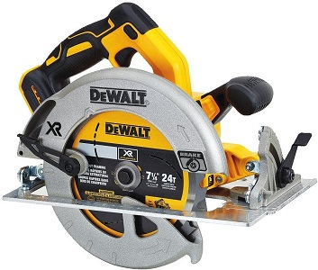 1. Dewalt 20v max 7-1/4-inch circular saw with brake
