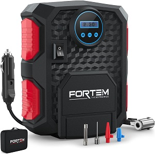 05. FORTEM Digital Tire Inflator for Car w/Auto Pump/Shut Off Feature