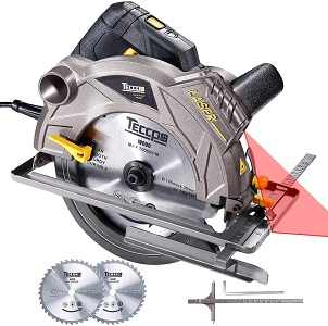 6. Teccpo 12a 1500w circular saw with laser, 5500 rpm corded saw