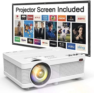 08. QKK Mini Projector 5500Lumens Portable LCD Projector