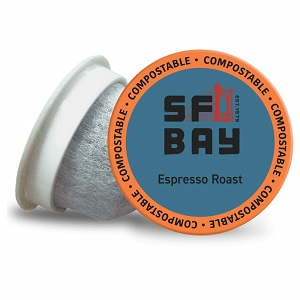 6. SF Bay Coffee Espresso Roast 80 Ct Dark Roast Compostable Coffee Pods