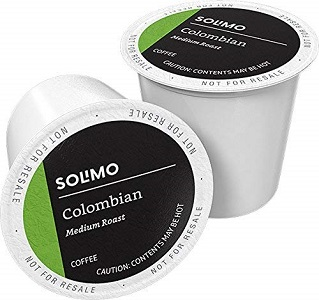 8. Amazon Brand - 100 Ct. Solimo Medium Roast Coffee Pods, Colombian, Compatible with Keurig 2.0 K-Cup Brewers