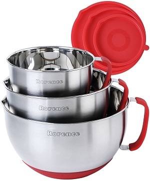 9. Rorence Mixing Bowls with Lids Set