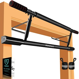 5: ROSRAN Pull Up Bar for Doorway, Total Upper Body Workout Bar