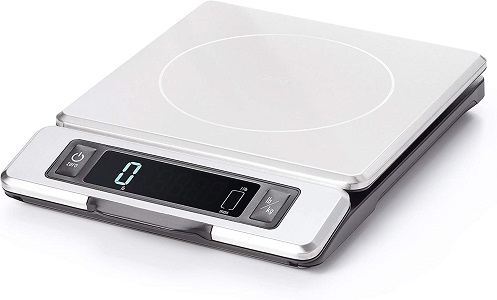 1. OXO Good Grips 11-Pound Stainless Steel Food Scale