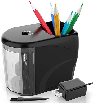 9. Electric Pencil Sharpener Heavy-duty Helical Blade Colored Pencil Sharpener