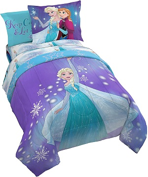 10: Jay Franco Frozen Magical Winter 5 Piece Twin Bed Set-(Official Disney Product)