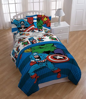 9: Jay Franco Comics Avengers Good Guys 4 Piece Twin Bed Set (Official Marvel Product)