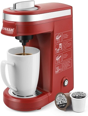 2. CHULUX Single Cup Coffee Maker Travel Coffee Brewer, Red