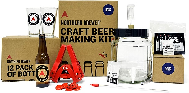 6: Northern Brewer - All-Inclusive Gift Set 1 Gallon Homebrewing Starter Kit