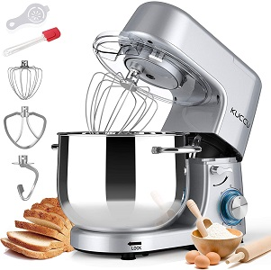 6: Kuccu Stand Mixer, 8.5 Qt 660W, 6-Speed Tilt-Head Food Dough Mixer