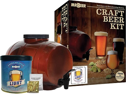 1: Mr. Beer Classic American Light Stater Beer Making Kit, 2 Gallon