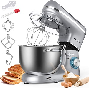 3: Kuccu Stand Mixer, 6 Qt 660W, 6-Speed Tilt-Head Food Dough Mixer